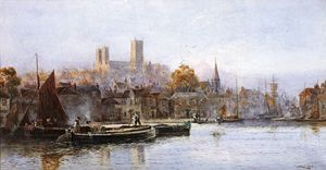 Walker Stuart Lloyd - Lincoln Cathedral From The River