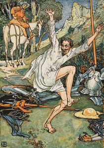 Walter Crane - Don Quixote Doing Penance