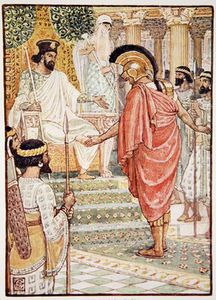 Walter Crane - He Stood Silent Before The King