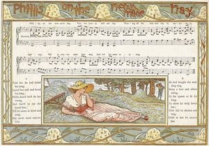 Walter Crane - Phillis On The New Made Hay