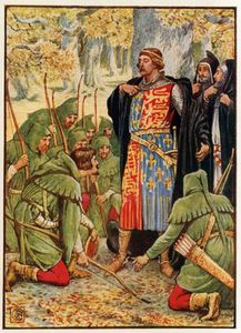 Walter Crane - Robin Hood And His Men Kneel To The King