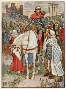 Walter Crane - Robin Hood Is Thanked By The Peasants