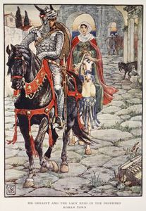 Walter Crane - Sir Geraint And The Lady Enid In The Deserted Roman