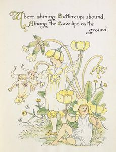 Walter Crane - The Buttercup And The Cowslip