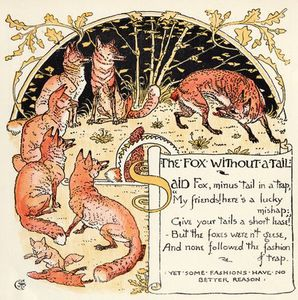 Walter Crane - The Fox Without A Tail