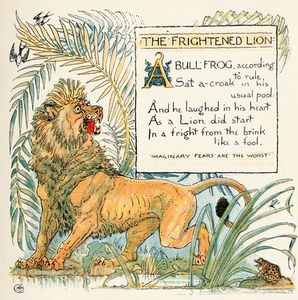 Walter Crane - The Frightened Lion