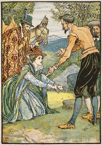 Walter Crane - The Meeting Of Dorothea And Don Quixote