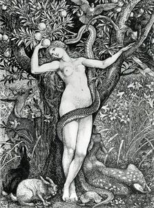 Walter Crane - The Tempation Of Eve