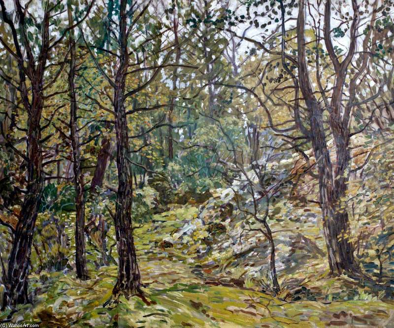 Godolphin Woods by Walter Elmer Schofield (1867-1944, United States) | Oil Painting | WahooArt.com