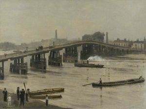 Walter Greaves - An Old London Bridge