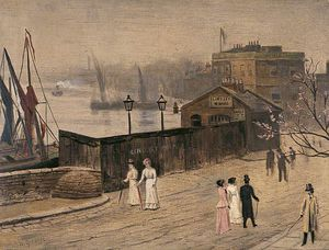 Walter Greaves - Lindsey Wharf, Chelsea, London