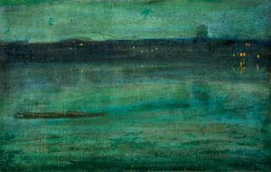 Walter Greaves - Nocturne, Battersea Reach, London
