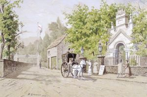 Walter Greaves - The Waterside Entrance To Cremorne Gardens, London