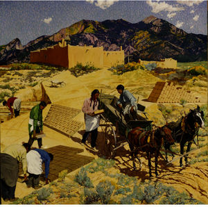 Walter Ufer - Builders Of The Desert