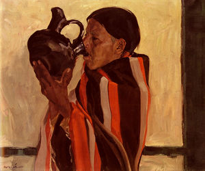 Walter Ufer - Taos Indian Drinking