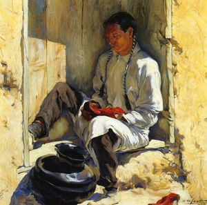 Walter Ufer - The Red Moccasins