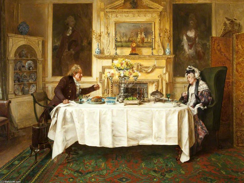 Order Reproductions | Darby And Joan - by Walter Dendy Sadler (1854-1923, United Kingdom) | WahooArt.com