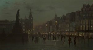 Wilfred Jenkins - Market Street, Manchester, Night