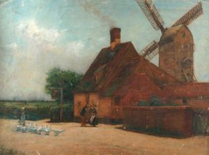 Wilfred Williams Ball - Windmill And Geese