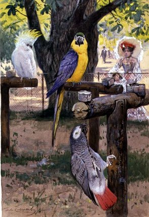 At The Zoo by Friedrich Wilhelm Kuhnert (1865-1926, Poland) | Famous Paintings Reproductions | WahooArt.com