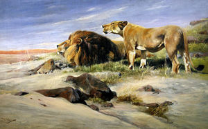 Friedrich Wilhelm Kuhnert - Robbers Of The Desert