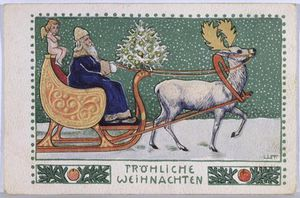 Wilhelm List - Postcard Depicting Father Christmas On His