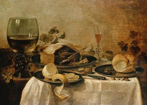 Willem Claesz Heda - Still Life With Fruit Pie