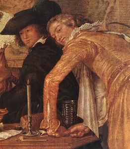 Willem Pietersz Buytewech - Merry Company (detail)