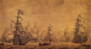 Willem Van De Velde The Elder - Dutch Navy Sailing