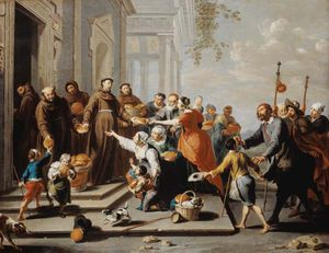 Willem Van Herp - St. Antonius Of Padua Distributes Bread To The Poor