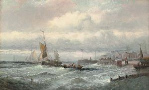 William A. Thornley (Thornbery) - Stiff Breeze Off Ramsgate