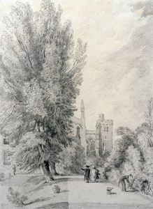 William Alfred Delamotte - New College Garden,