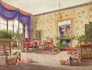 William Alfred Delamotte - The Interior Of The Chinese Drawing Room