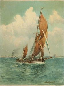 William Arnold Woodhouse - Sailing Ships And Steamer
