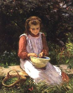 William Banks Fortescue - Shelling Peas