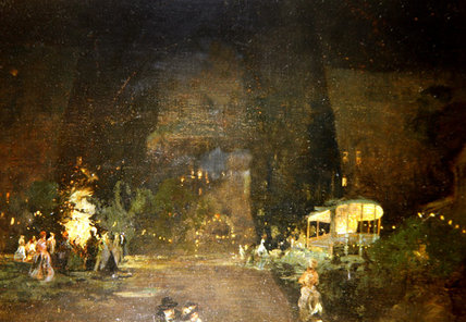 Order Art Reproductions | Cremorne Gardens, Chelsea by William Brassey Hole (1846-1917, United Kingdom) | WahooArt.com