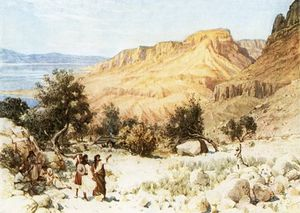 William Brassey Hole - David-s Camp At Engedi