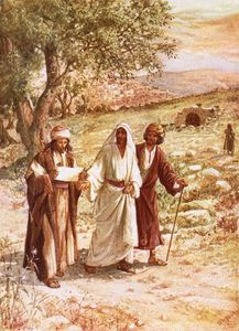 William Brassey Hole - Jesus Appearing To Two Disciples On The Road To Emmaus