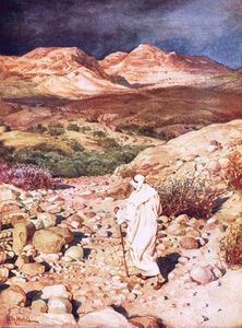 William Brassey Hole - Jesus Being Led Into The Wilderness To Be Tempted