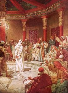 William Brassey Hole - Jesus Brought Before Caiaphas And The Council