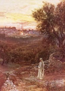 William Brassey Hole - Jesus On The Mount Of Olives