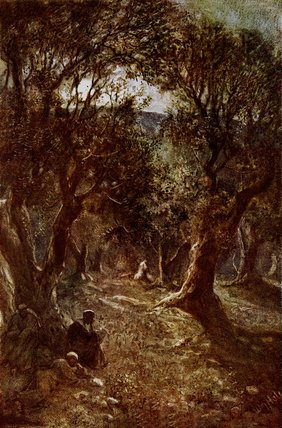 Jesus Praying In The Garden Of Gethsemane by William Brassey Hole (1846-1917, United Kingdom) | Reproductions William Brassey Hole | WahooArt.com