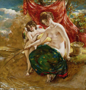William Etty - Love's Angling,