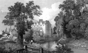 William Henry Bartlett - The Moat Of Ongar Castle And Castle House