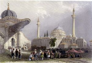 William Henry Bartlett - The Mosque Of Bajazet With The Seraskier's Gate