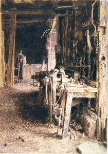 William Henry Hunt - Barn Interior,
