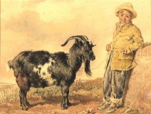 William Henry Hunt - Boy And Goat,
