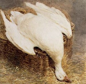 William Henry Hunt - Still Life Of A Dead Goose With A Basket,