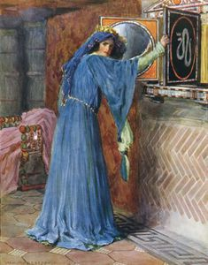 William Henry Margetson - O Magic Mirror On The Wall