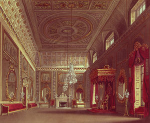 William Henry Pyne - The Saloon, Buckingham Palace